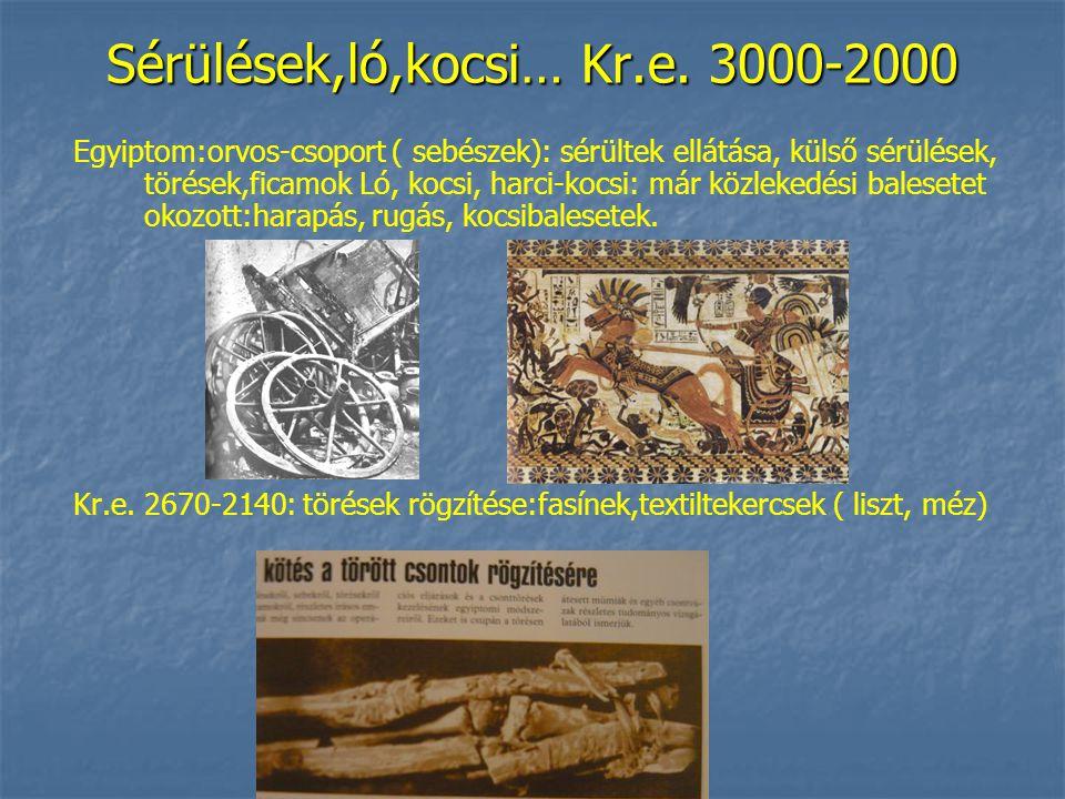 Sérülések,ló,kocsi… Kr.e.