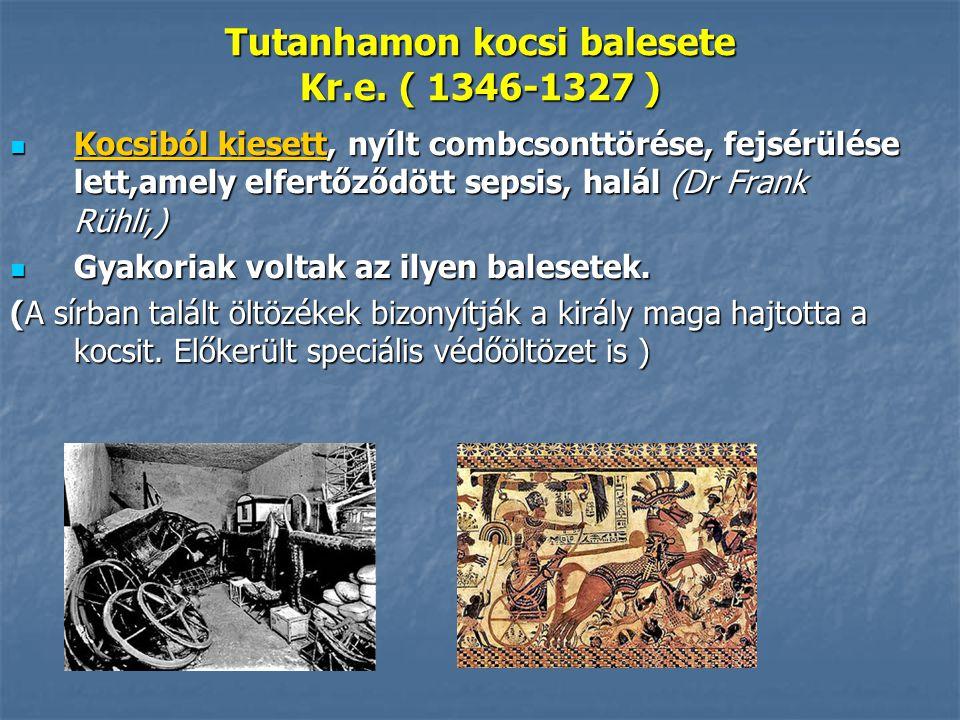 Tutanhamon kocsi balesete Kr.e.