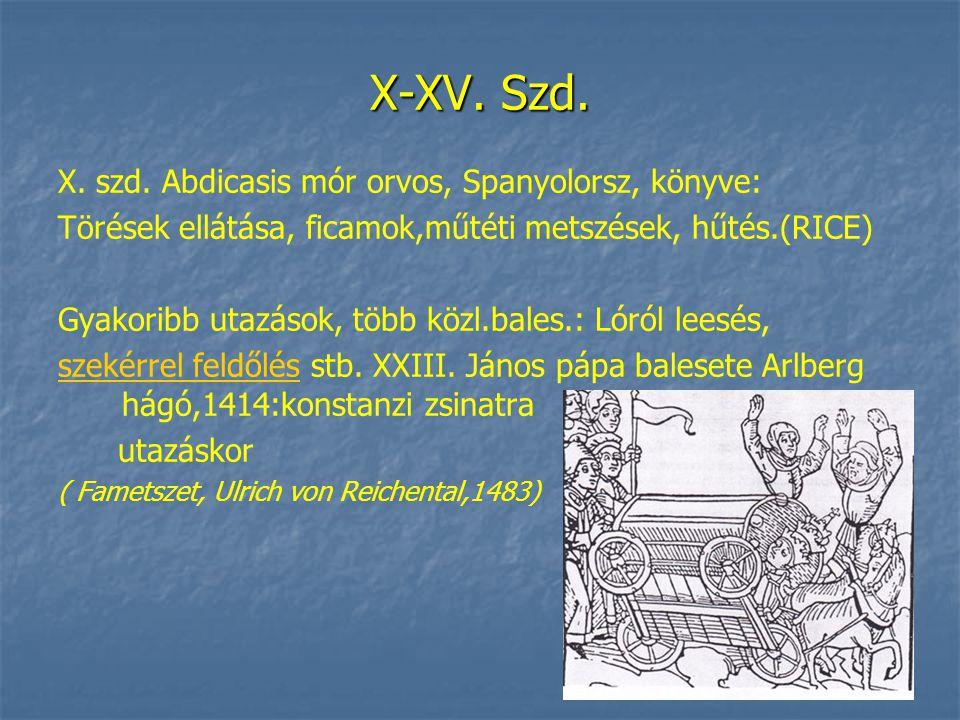 X-XV. Szd. X. szd.
