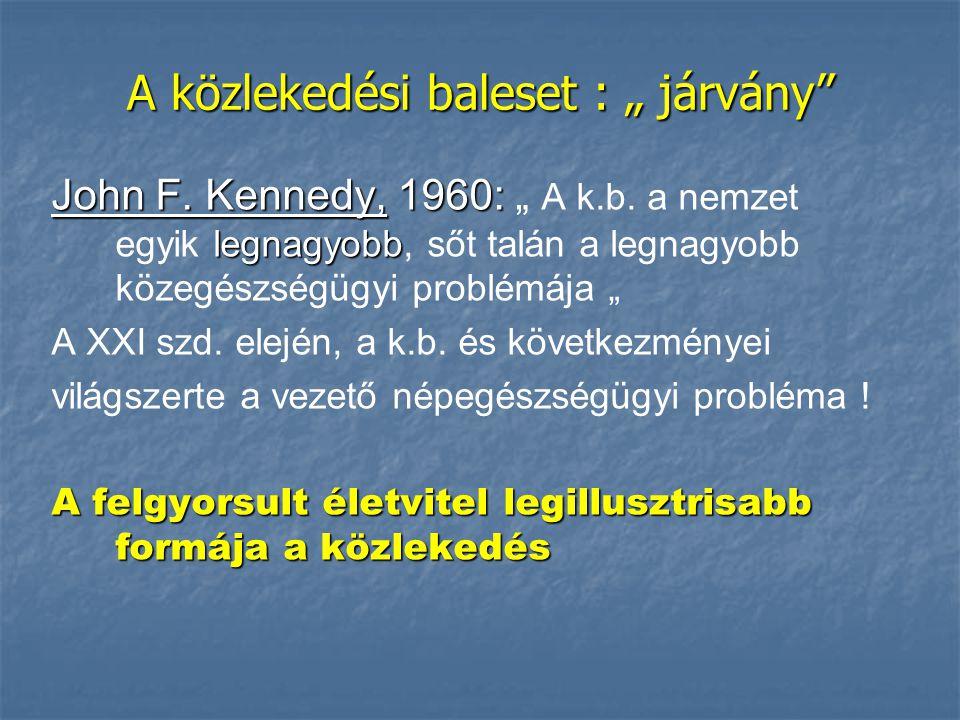 """A közlekedési baleset : """" járvány John F. Kennedy, 1960: legnagyobb John F."""