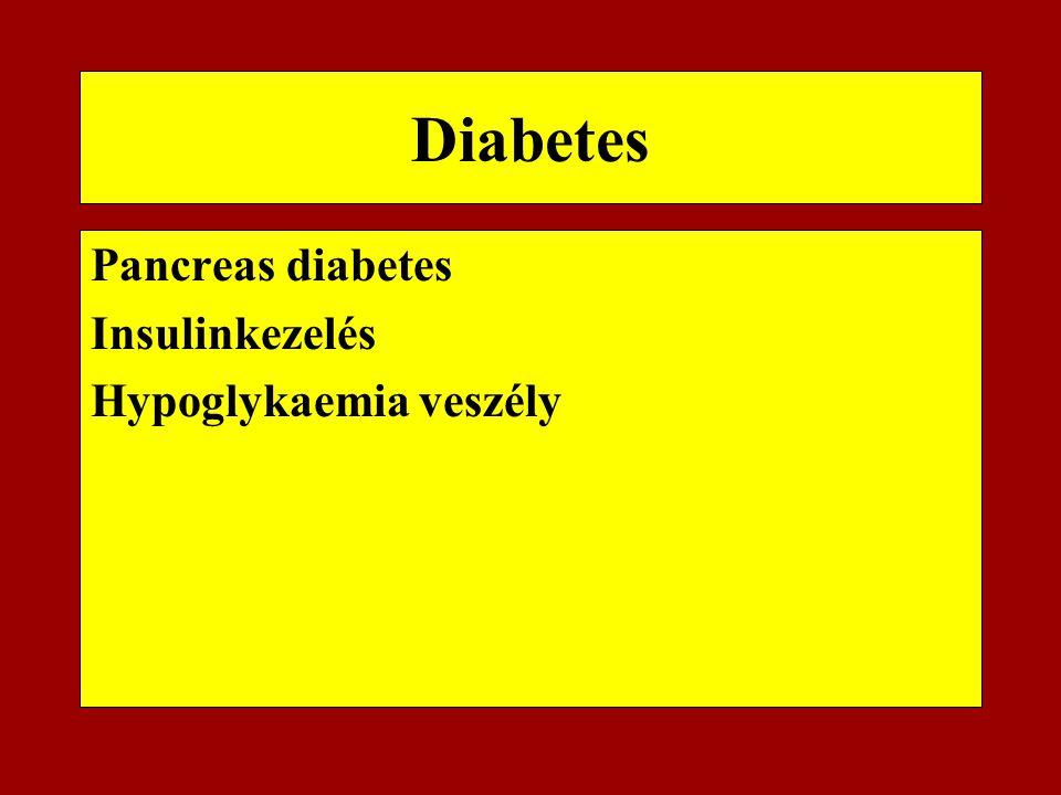 Diabetes Pancreas diabetes Insulinkezelés Hypoglykaemia veszély