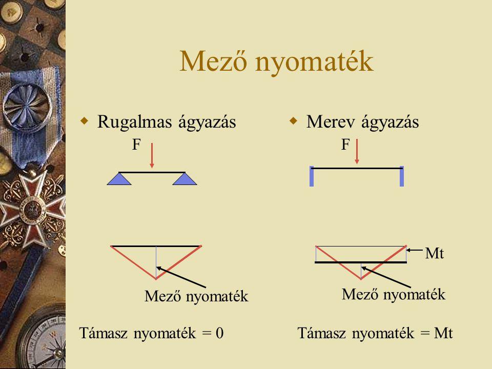 A fogmű néhány statikai, szilárdságtani szempontja  Pillér – horgony kapcsolat (merev)  A hídtest szerkesztés néhány statikai szempontja