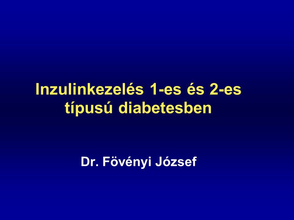 Az inzulinkezelés céljai  Az élet biztosítása 1-es típusú diabetesben  A klinikai tünetek megszüntetése.