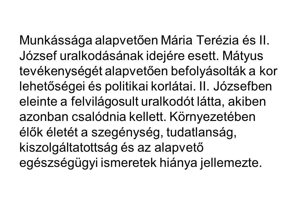 Irodalom Mátyus István:Diaetetica I-II.