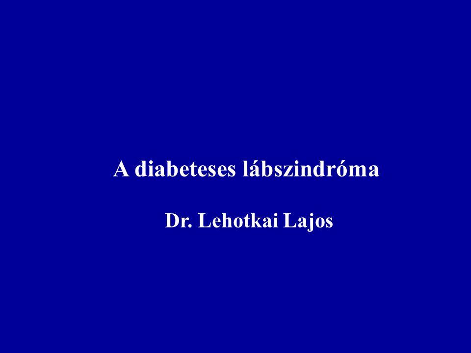 A diabeteses lábszindróma Dr. Lehotkai Lajos