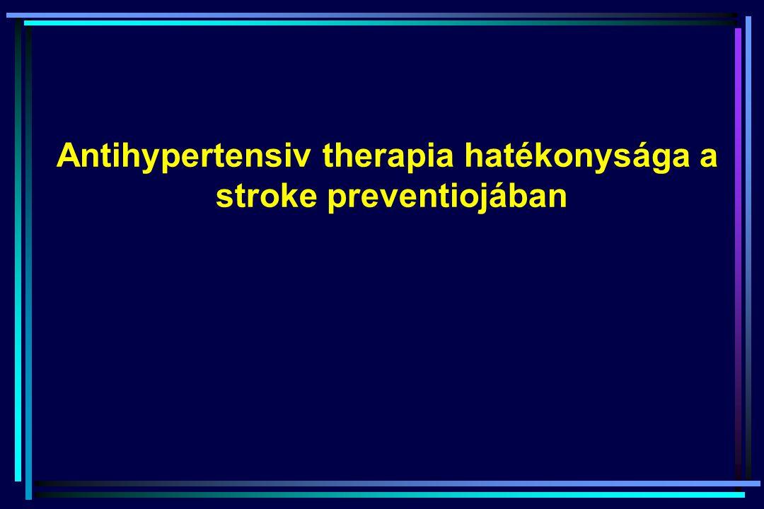 Antihypertensiv therapia hatékonysága a stroke preventiojában