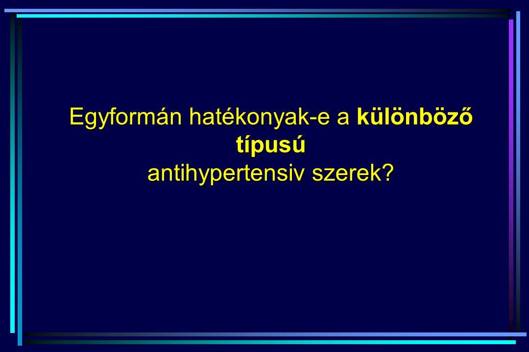 Egyformán hatékonyak-e a különböző típusú antihypertensiv szerek?