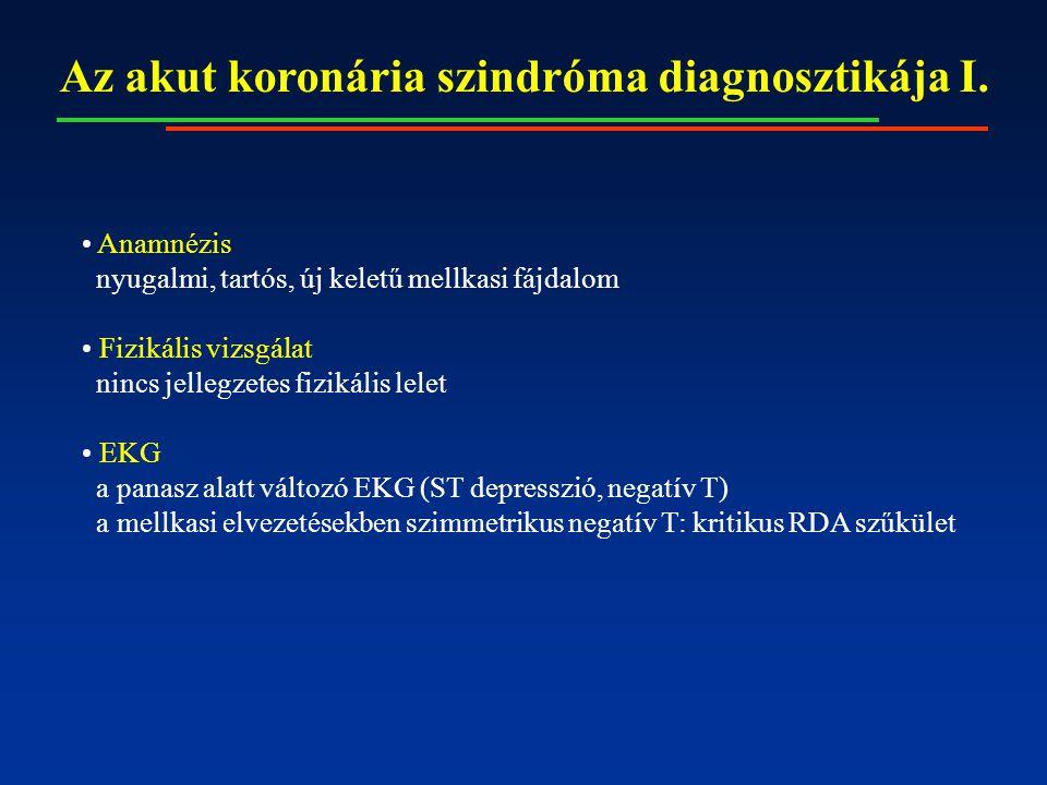 Az akut koronária szindróma diagnosztikája I.
