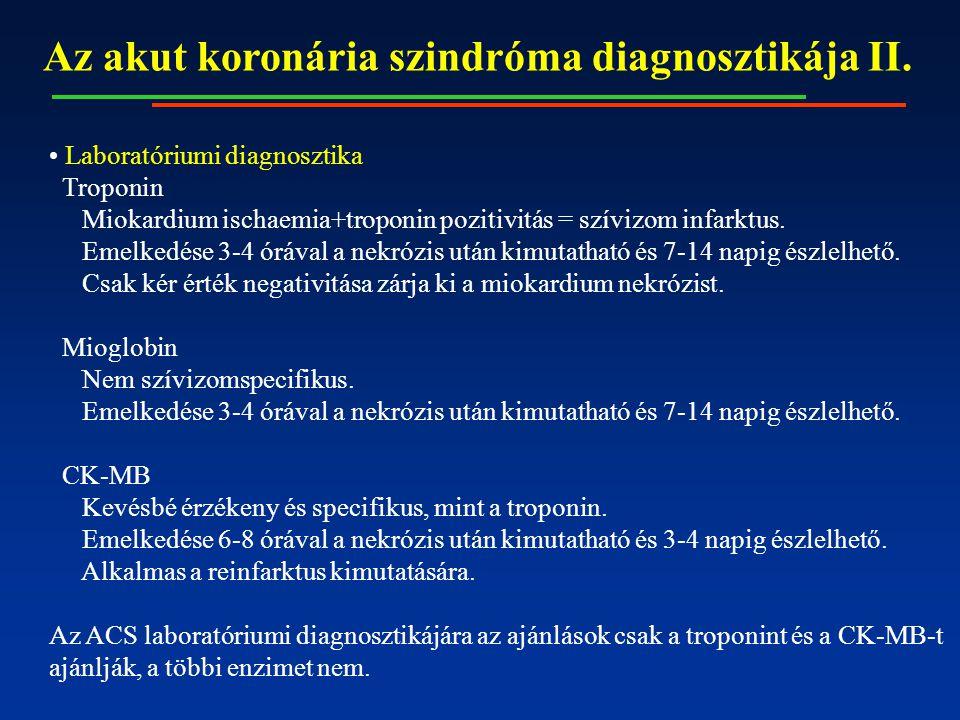 Az akut koronária szindróma diagnosztikája II.