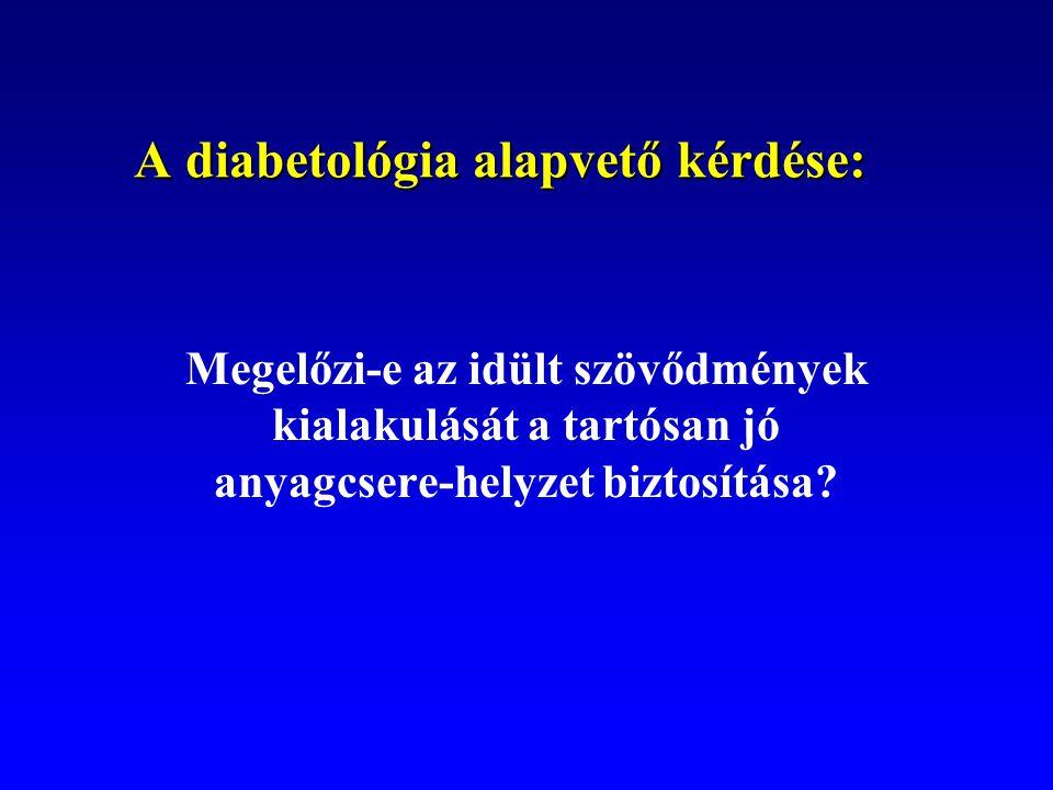 A diabetológia alapvető kérdése: Megelőzi-e az idült szövődmények kialakulását a tartósan jó anyagcsere-helyzet biztosítása?