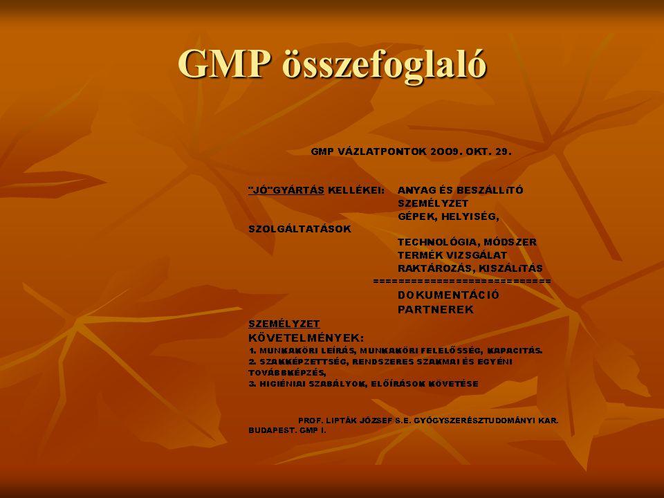 GMP összefoglaló