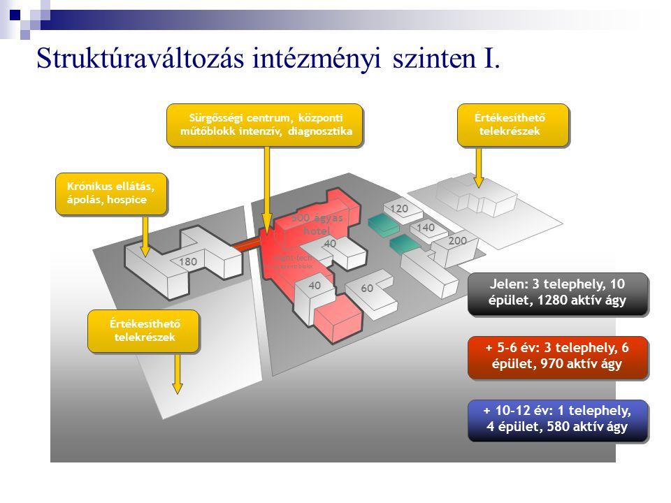 Struktúraváltozás intézményi szinten I.