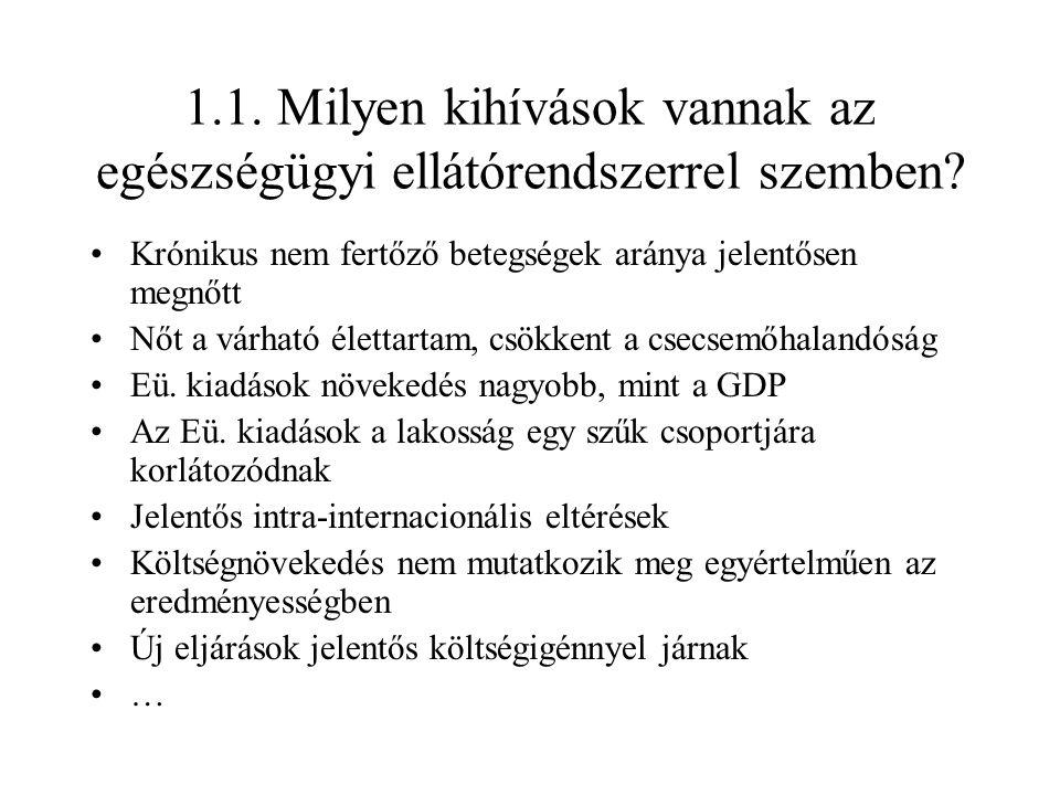 2.2.Betegellátás intézményrendszer- fekvőbeteg szakellátás I.