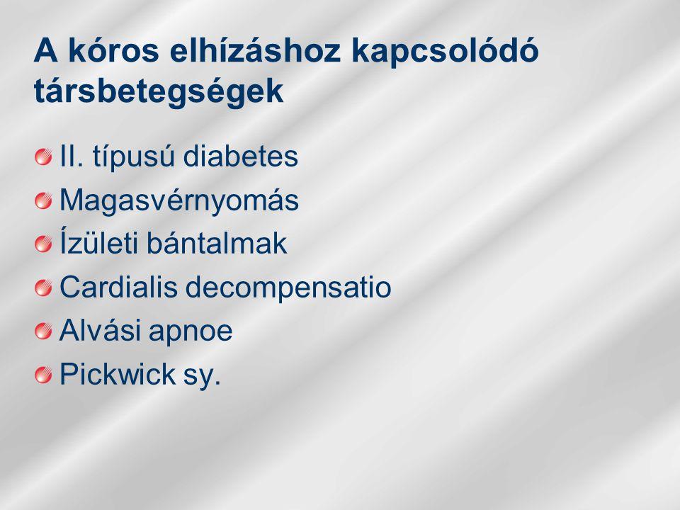 A kóros elhízáshoz kapcsolódó társbetegségek II.