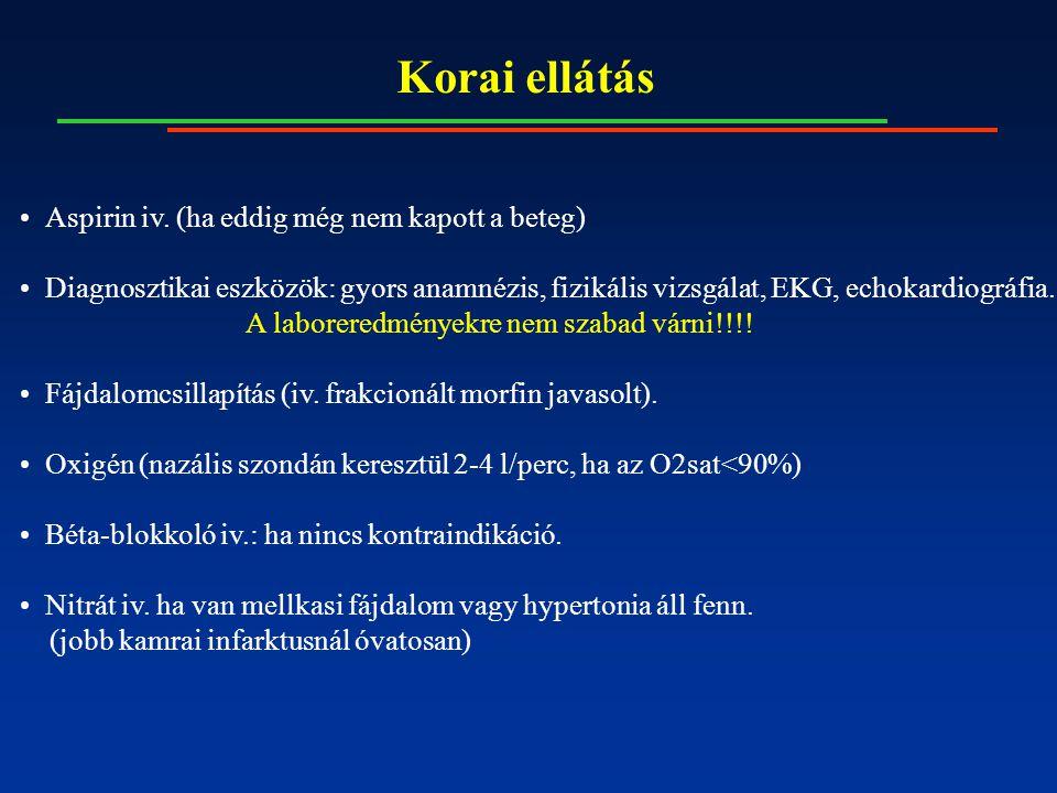 Elektromos szövődmények Korai kamrai ektópiás ütések, Kamrai tachycardia, Kamrafibrilláció, Pitvarfibrilláció, Egyéb szupraventrikuláris tachycardiák, Sinus bradycardia, Első fokú AV-blokk, Wenckebach típusú (Mobitz I.) másodfokú AV-blokk, Mobitz II.