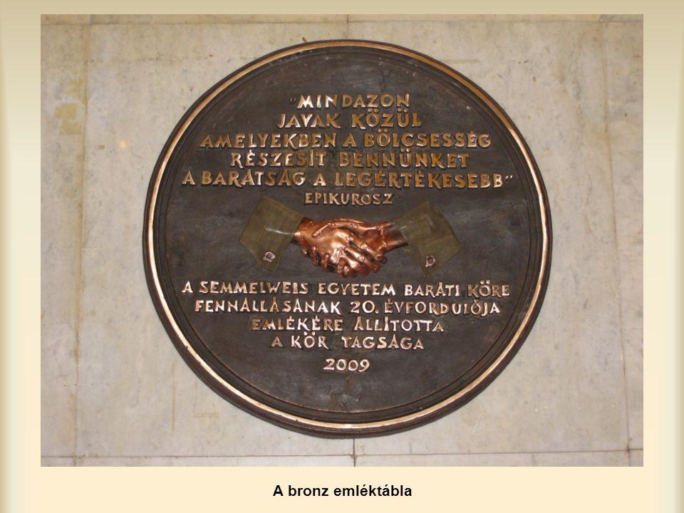 A bronz emléktábla