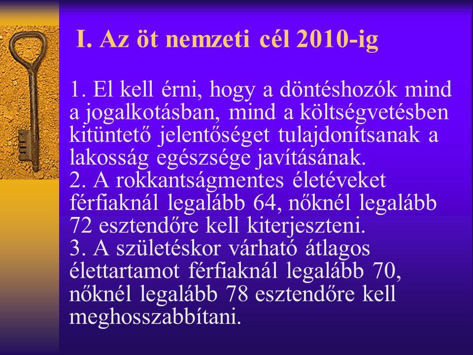 I.Az öt nemzeti cél 2010-ig 1.