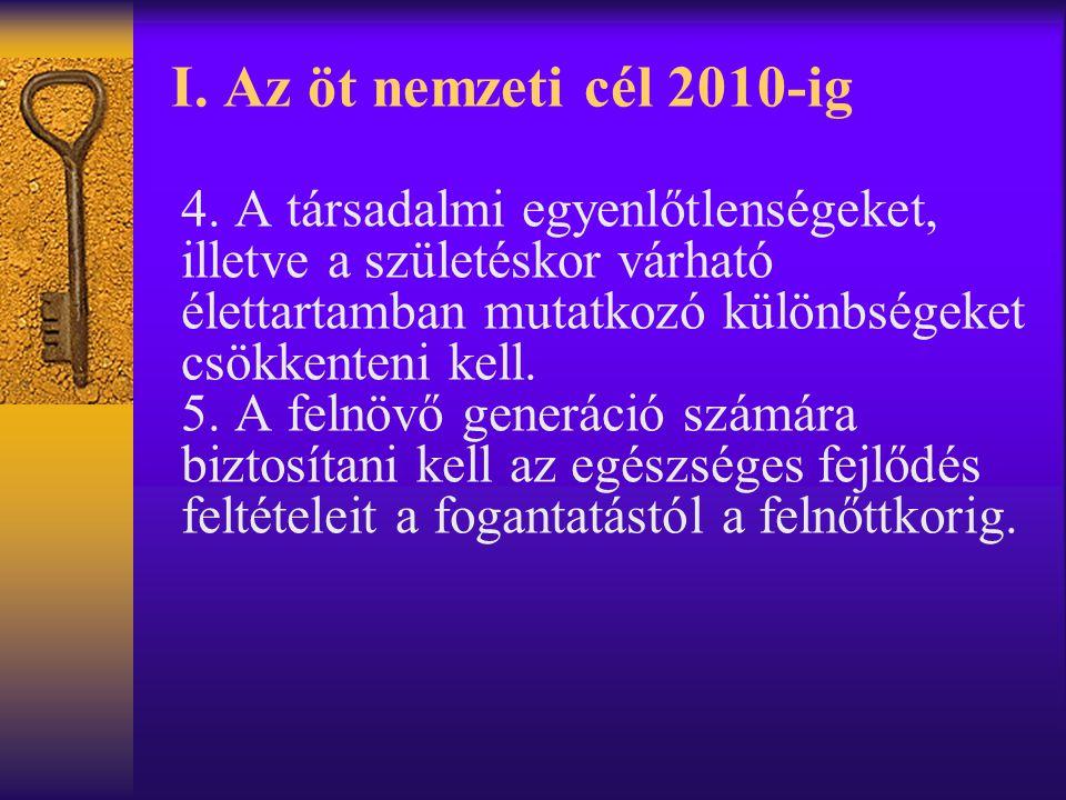 I.Az öt nemzeti cél 2010-ig 4.