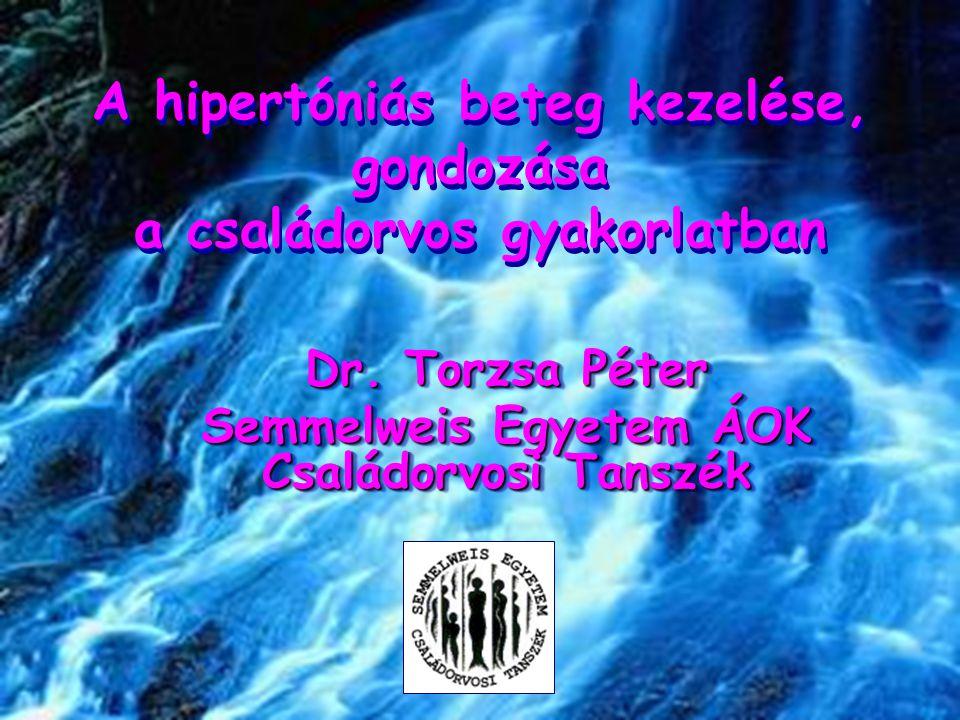 A hipertóniás beteg kezelése, gondozása a családorvos gyakorlatban Dr. Torzsa Péter Semmelweis Egyetem ÁOK Családorvosi Tanszék Dr. Torzsa Péter Semme