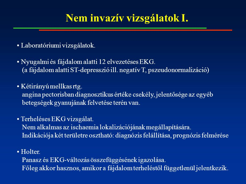 Nem invazív vizsgálatok II.Echokardiográfia.
