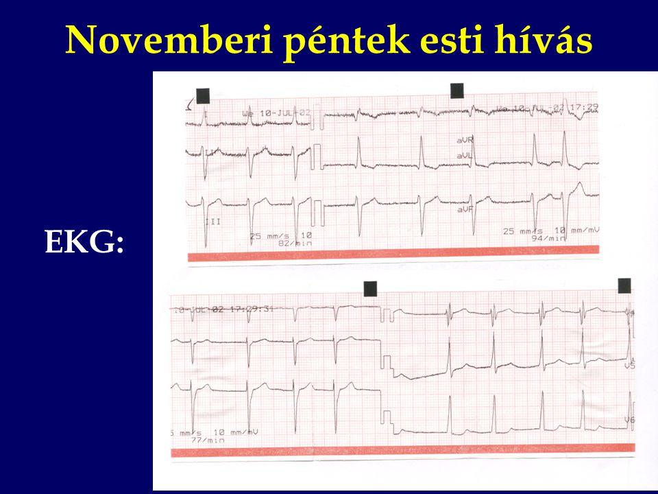 Novemberi péntek esti hívás EKG: