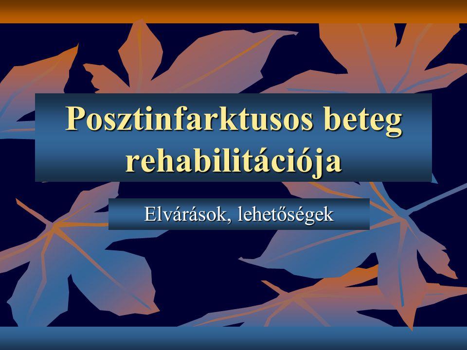 Posztinfarktusos beteg rehabilitációja Elvárások, lehetőségek