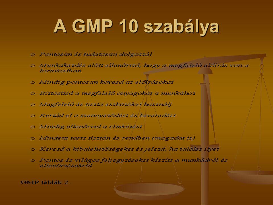 A GMP 10 szabálya