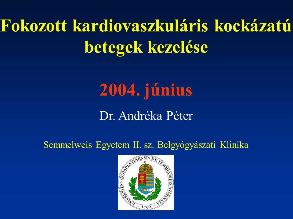 Fokozott kardiovaszkuláris kockázatú betegek kezelése 2004.