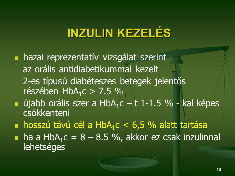 10 INZULIN KEZELÉS INZULIN KEZELÉS hazai reprezentatív vizsgálat szerint az orális antidiabetikummal kezelt 2-es típusú diabéteszes betegek jelentős r