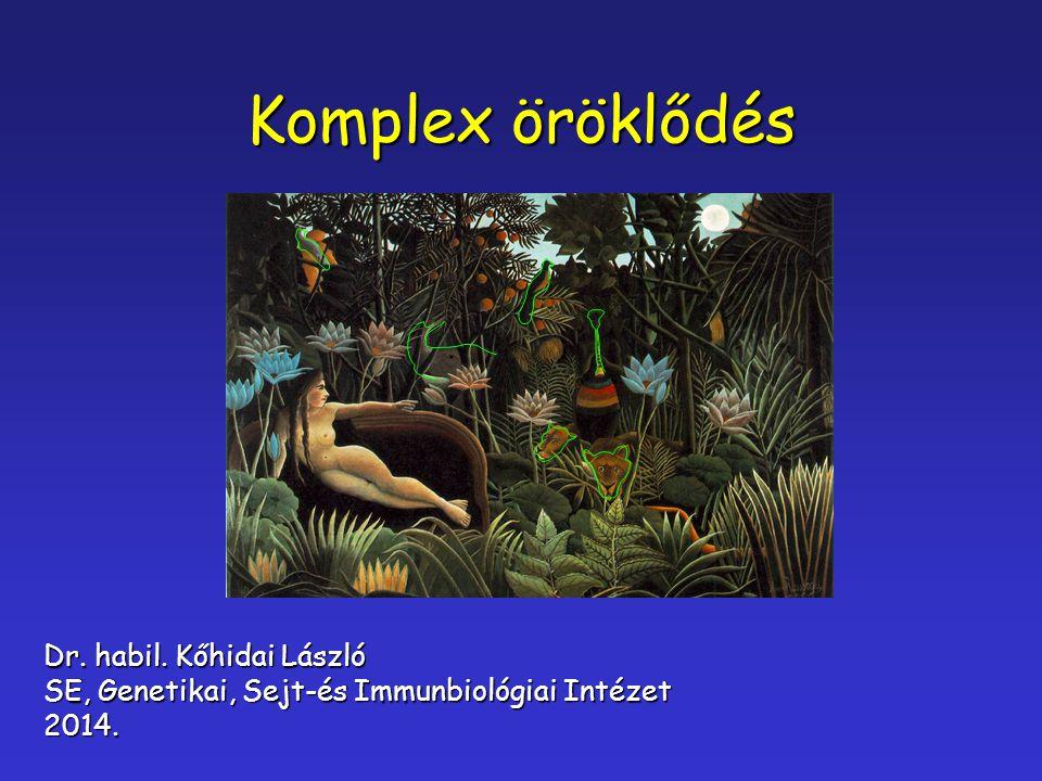 Komplex öröklődés Dr. habil. Kőhidai László SE, Genetikai, Sejt-és Immunbiológiai Intézet 2014.