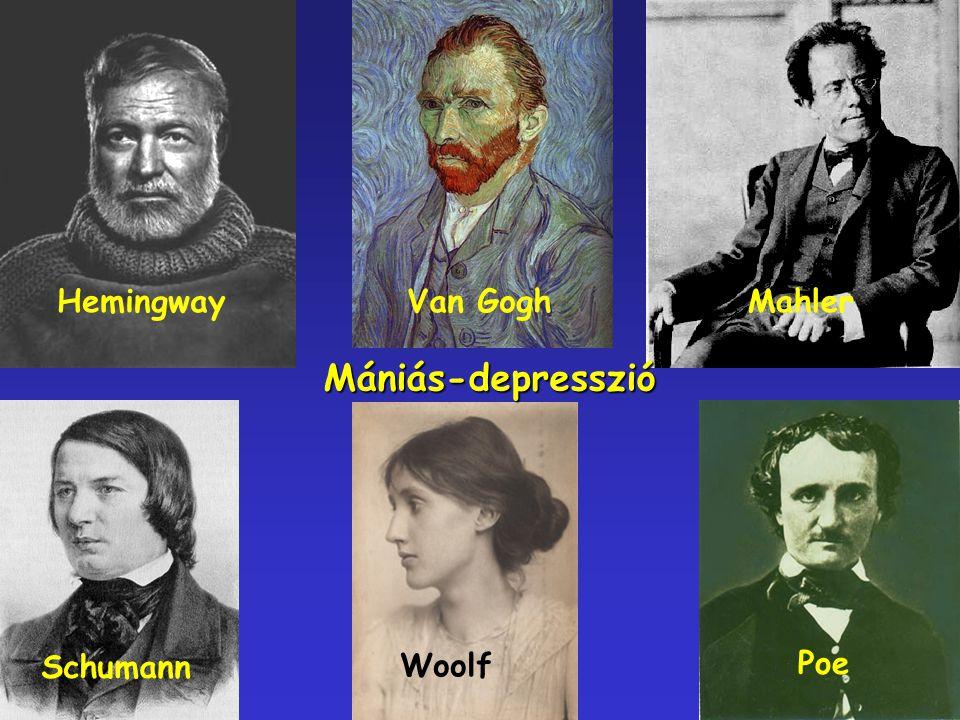 Mániás-depresszió HemingwayVan Gogh Schumann Woolf Poe Mahler
