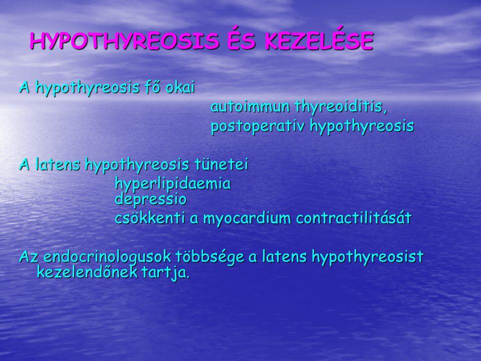 Kit kell szűrni hypothyreosisra a TSH szint meghatározásával a háziorvosi gyakorlatban.