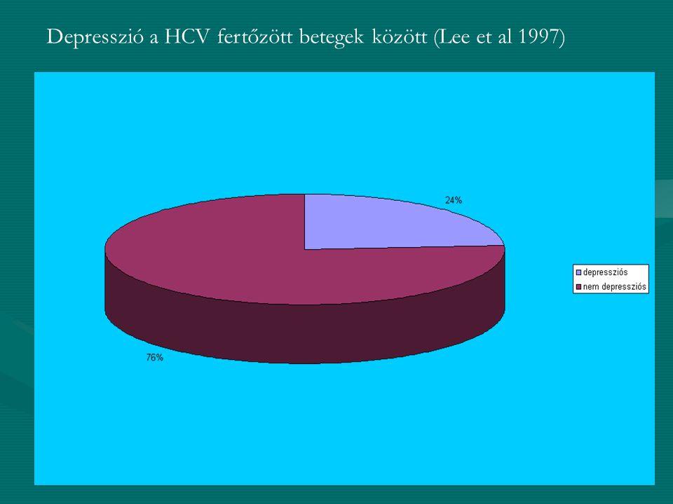 Depresszió kialakulásának mechanizmusa: -biológiai: HCV enkefalopátia -pszichológiai: stigmatizáció