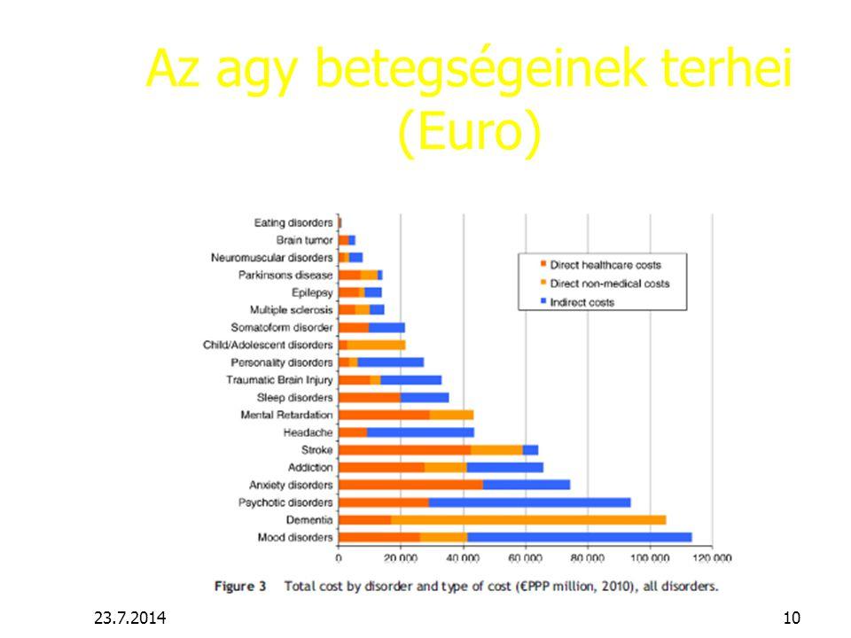 Az agy betegségeinek terhei (Euro) 23.7.201410