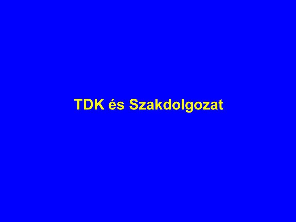 TDK és Szakdolgozat