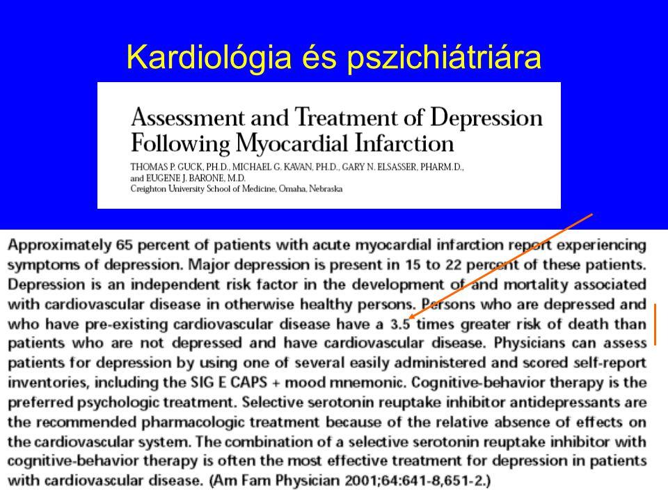 Kardiológia és pszichiátriára