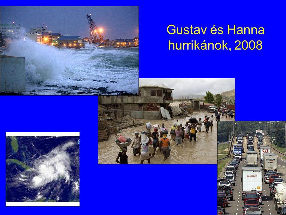 Gustav és Hanna hurrikánok, 2008