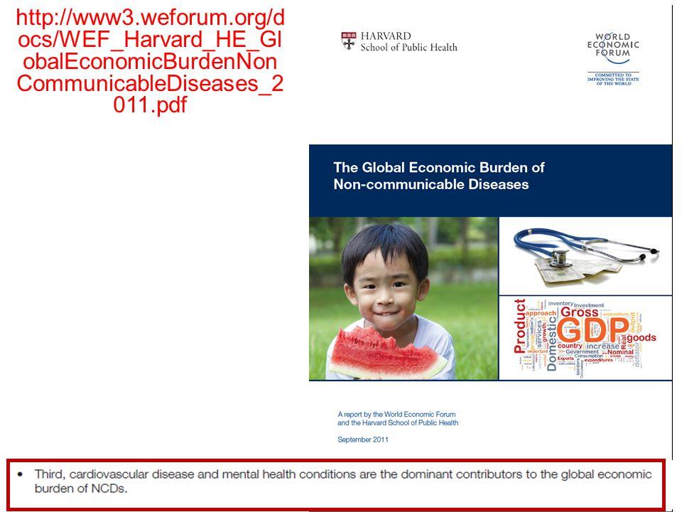 6 http://www3.weforum.org/d ocs/WEF_Harvard_HE_Gl obalEconomicBurdenNon CommunicableDiseases_2 011.pdf