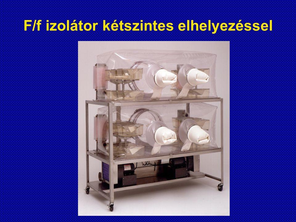 F/f izolátor kétszintes elhelyezéssel