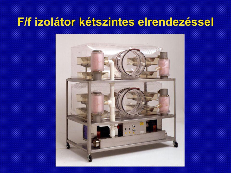 F/f izolátor kétszintes elrendezéssel