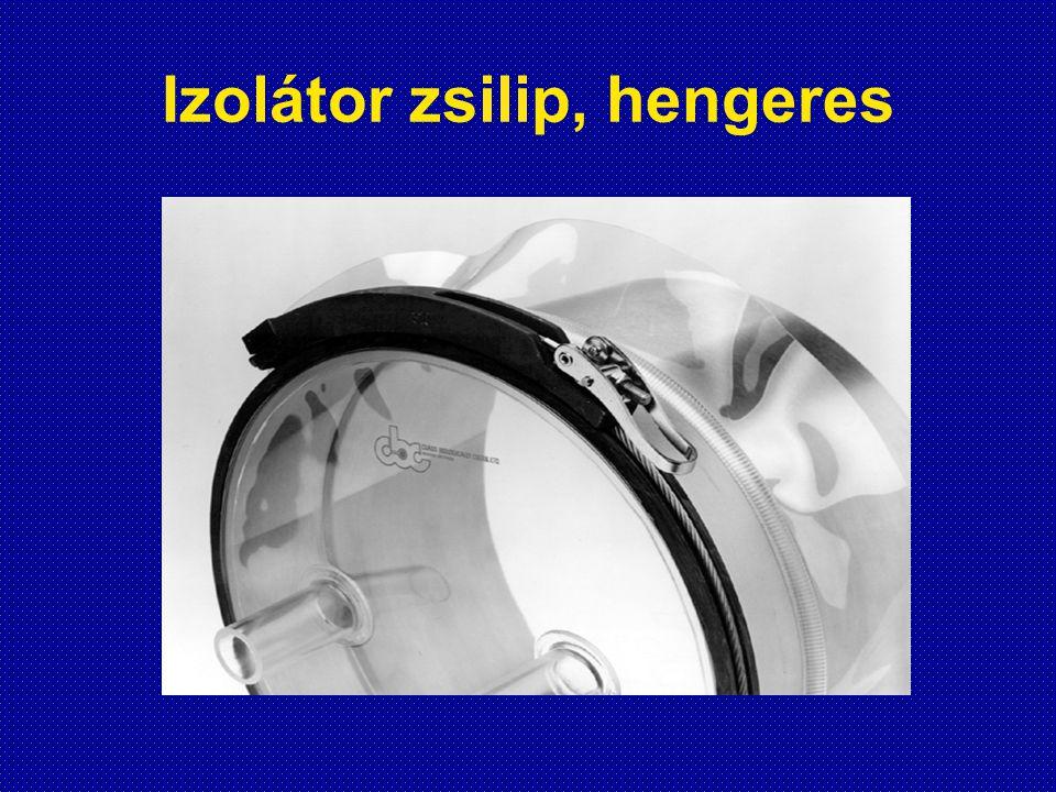 Izolátor zsilip, hengeres