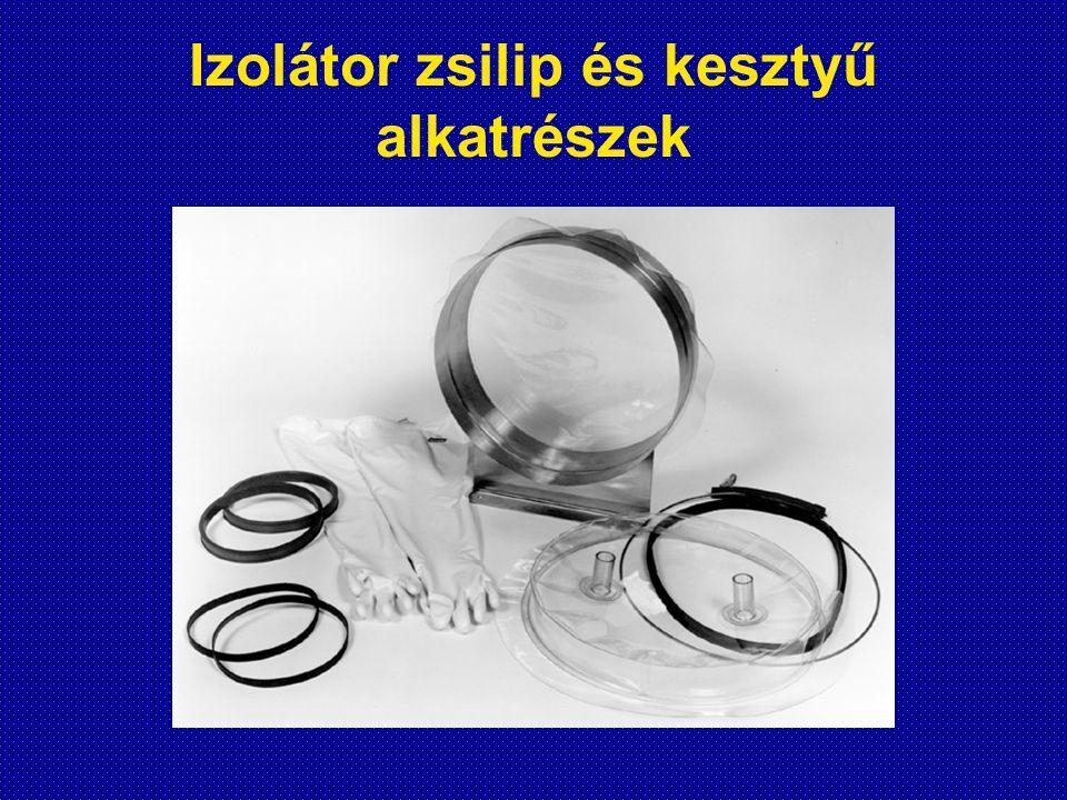 Izolátor zsilip és kesztyű alkatrészek