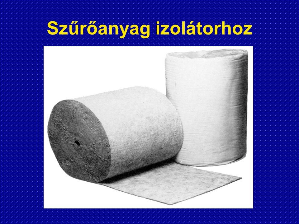 Szűrőanyag izolátorhoz