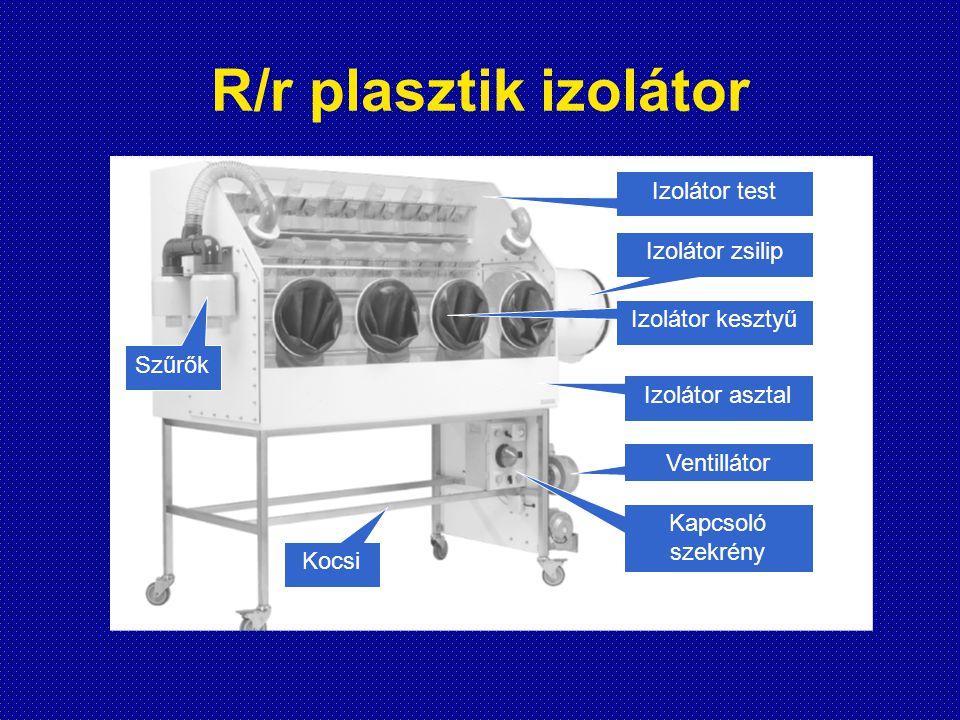 R/r plasztik izolátor Izolátor test Izolátor zsilip Izolátor kesztyű Izolátor asztal Ventillátor Kapcsoló szekrény Szűrők Kocsi