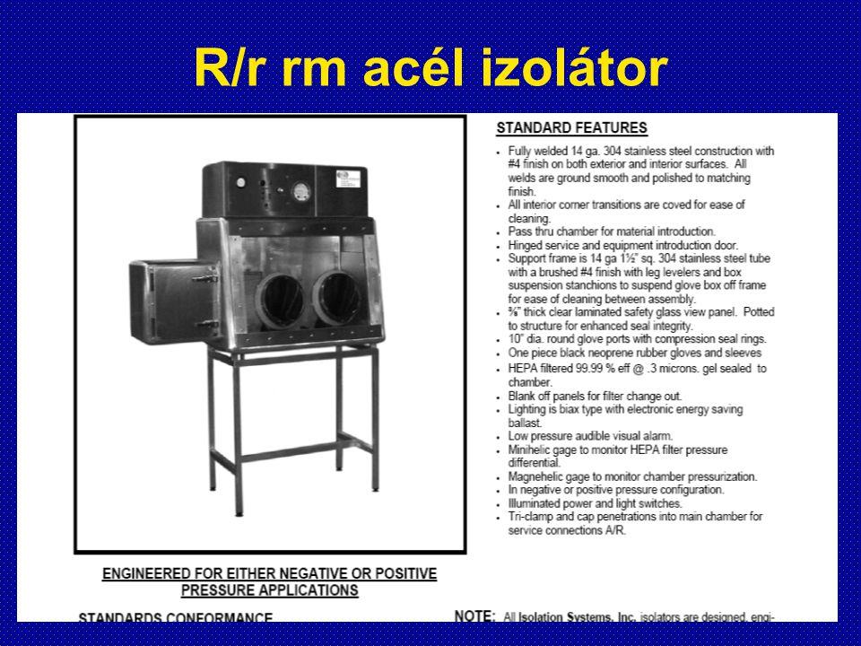 R/r rm acél izolátor