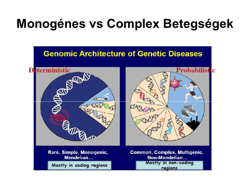 Monogénes vs Complex Betegségek