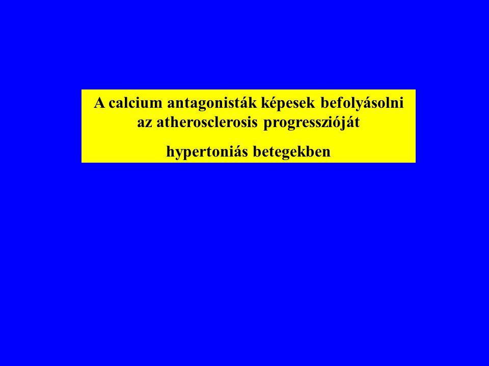 A calcium antagonisták képesek befolyásolni az atherosclerosis progresszióját hypertoniás betegekben