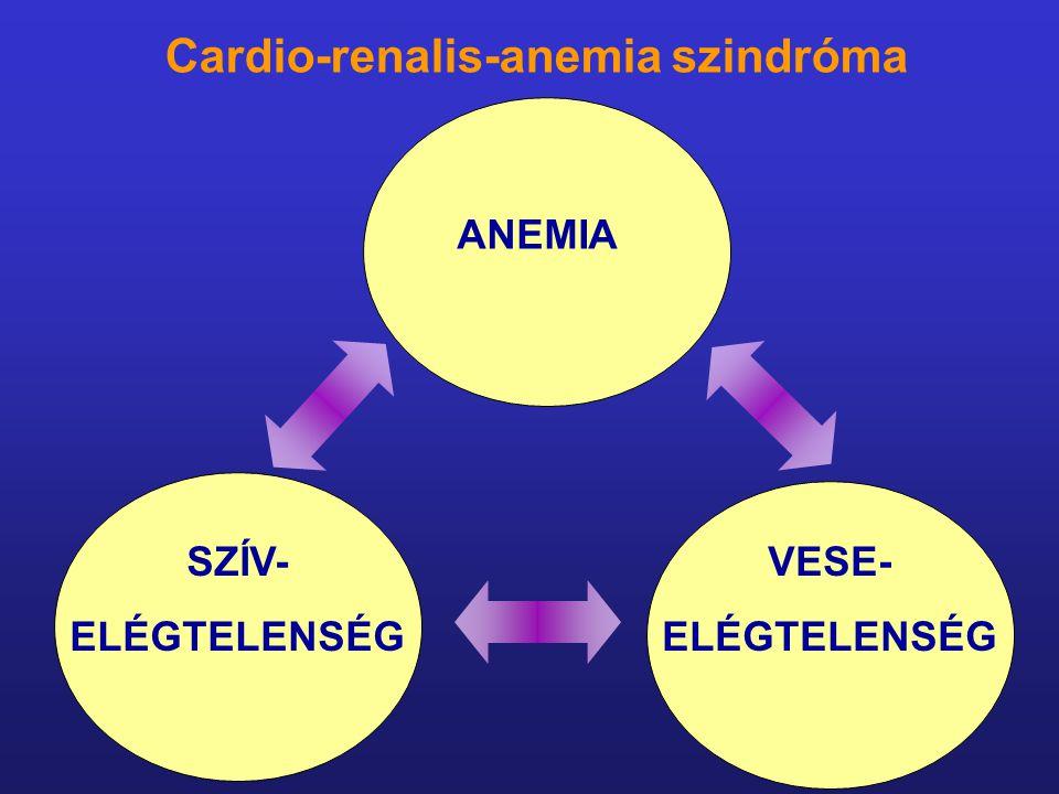 ANEMIA SZÍV- ELÉGTELENSÉG VESE- ELÉGTELENSÉG Cardio-renalis-anemia szindróma