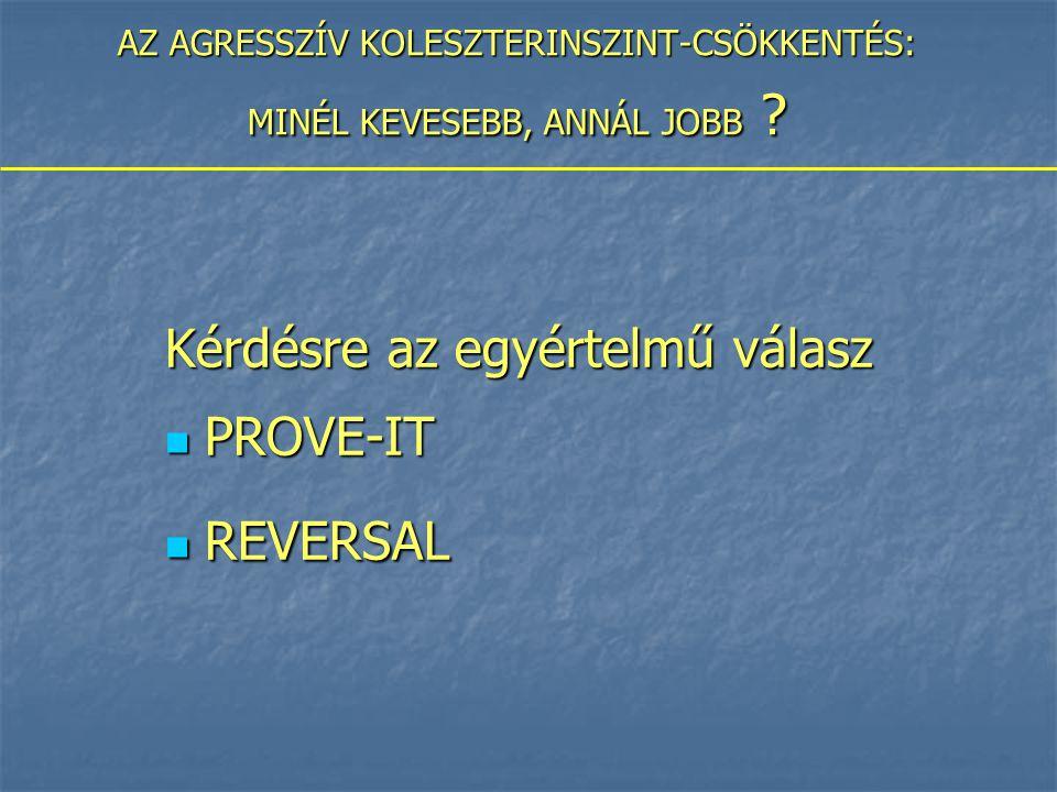 AZ AGRESSZÍV KOLESZTERINSZINT-CSÖKKENTÉS: MINÉL KEVESEBB, ANNÁL JOBB .