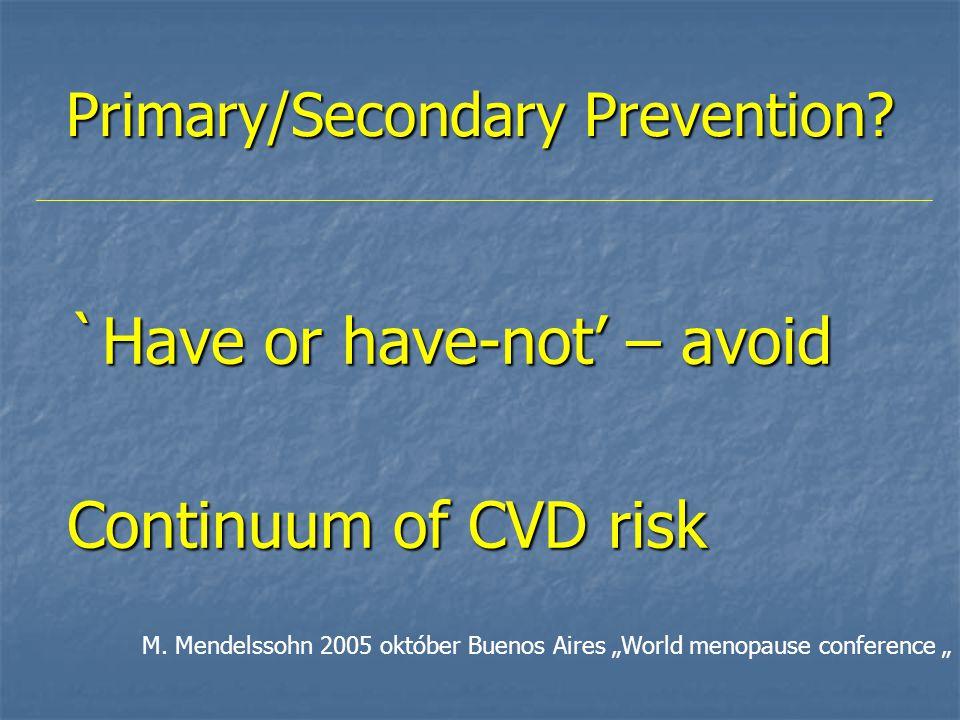 Néhány fontos vizsgálat 25 20 15 10 5 0 % with CHD event LDL-C, mmol/l (mg/dl) 2.3 (90) 2.8 (110) 3.4 (130) 3.9 (150) 4.4 (170) 4.9 (190) 5.4 (210) 4S-P CARE-P LIPID-P 4S-S WOSCOPS-S WOSCOPS-P AFCAPS-P AFCAPS-S LIPID-S CARE-S Secondary prevention Primary prevention S=statin treated; P=placebo treated.
